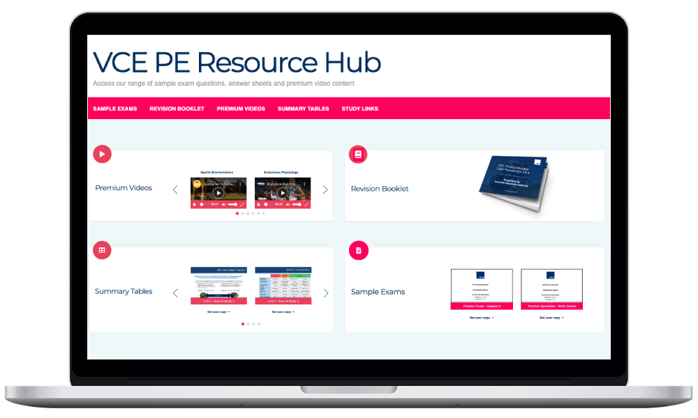 VCE PE Resource Hub