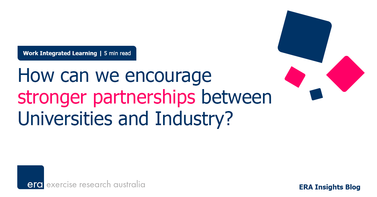 How can we encourage stronger partnerships between Universities and Industry?