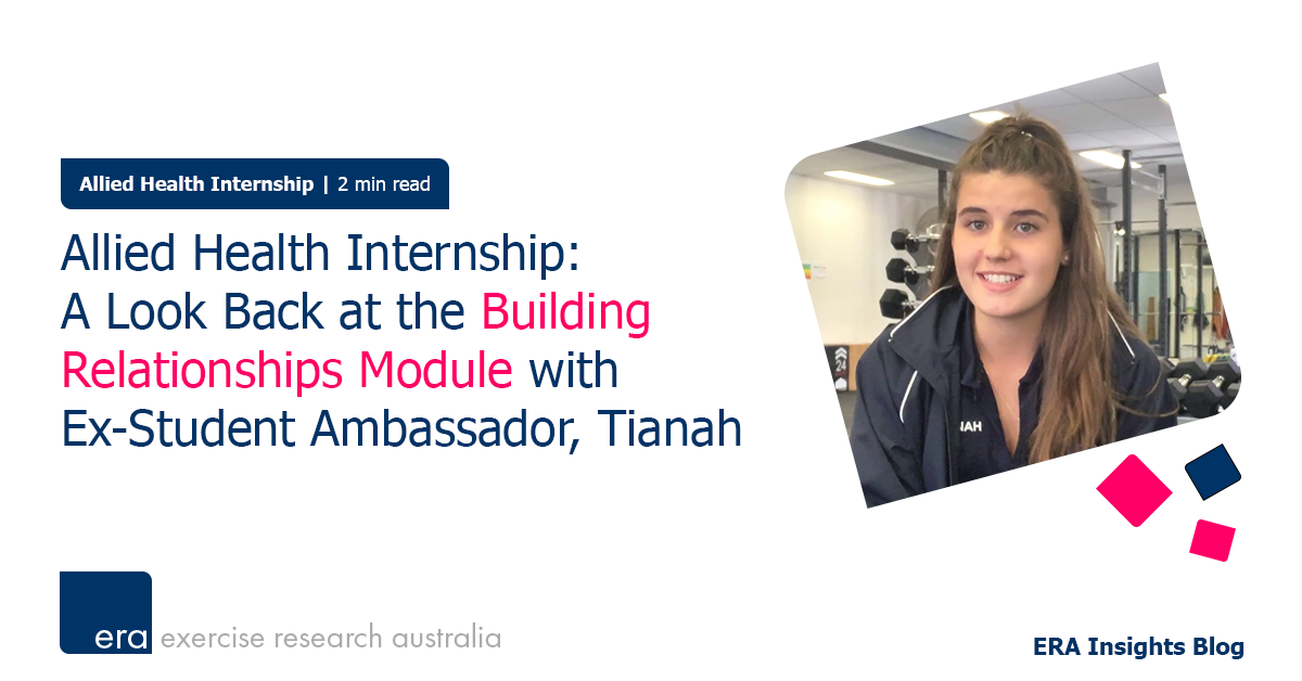 Allied Health Internship: A Look Back at the Building Relationships Module with Ex-Student Ambassador, Tianah.