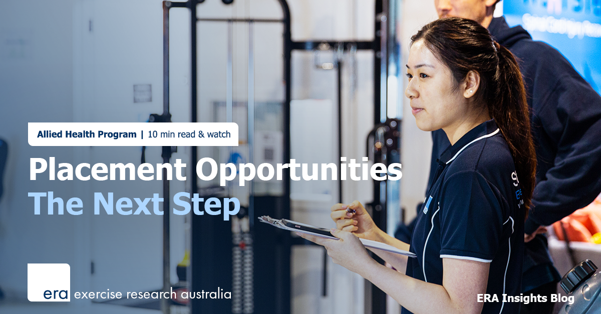 Placement Opportunities with ERA - The Next Step